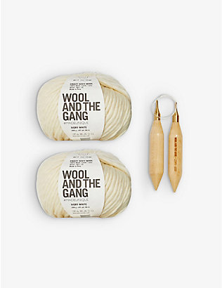 WOOL AND THE GANG: Triple Threat wool scarf-knitting kit