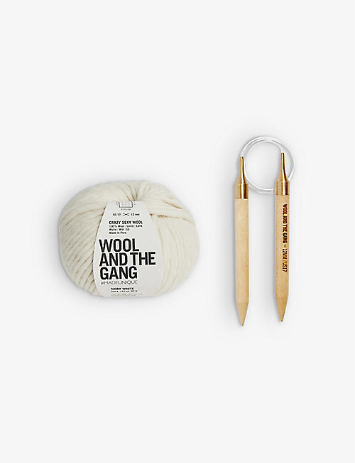 WOOL AND THE GANG: Happy Daze wool beanie-knitting kit