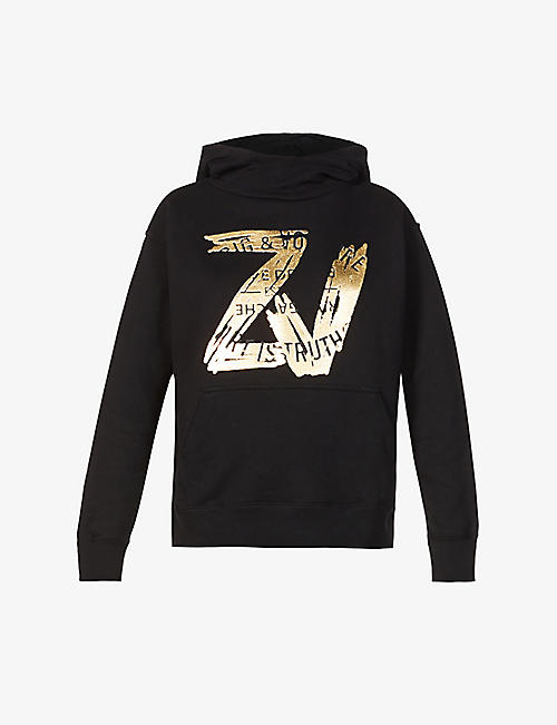 ZADIG&VOLTAIRE: Wallace logo-print cotton-jersey hoody