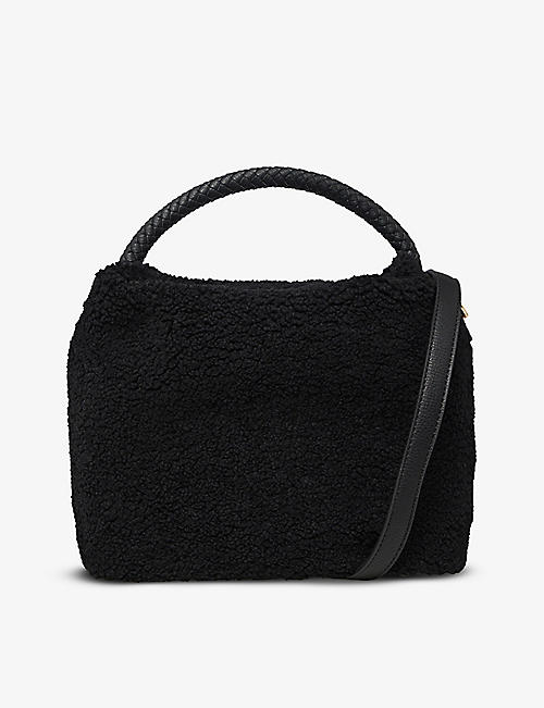 DUNE: Deadora faux-shearling tote bag