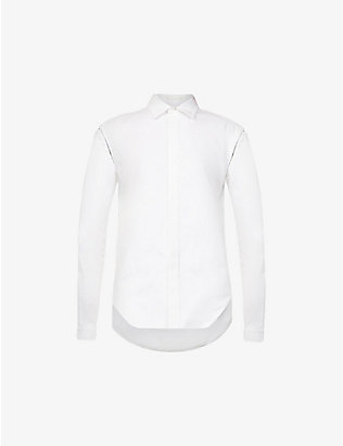 DION LEE: Detachable-sleeve cotton shirt