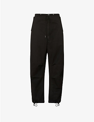 DION LEE: Parachute tapered high-rise cotton trousers