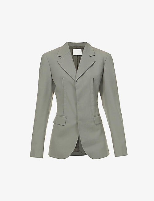 DION LEE: Single-breasted wool jacket