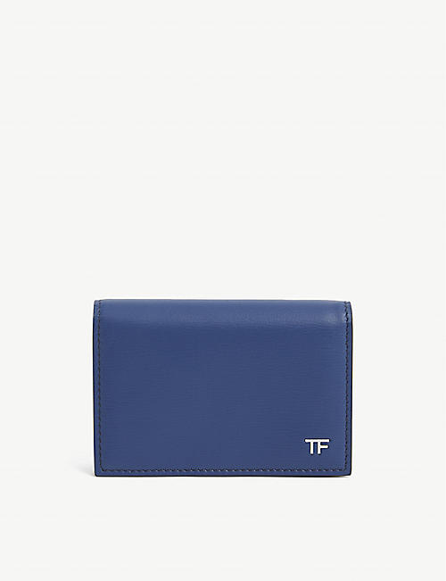 TOM FORD: Logo-embossed leather card holder