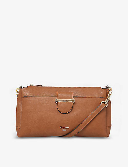 DUNE: Darlena faux-leather cross-body bag