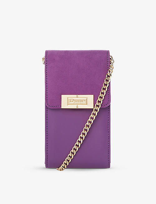 DUNE: Kade faux leather cross-body phone purse