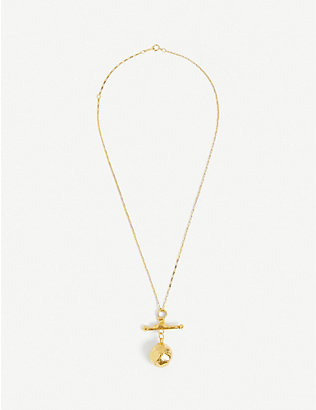 ALIGHIERI: The Moonshine 24ct gold-plated necklace