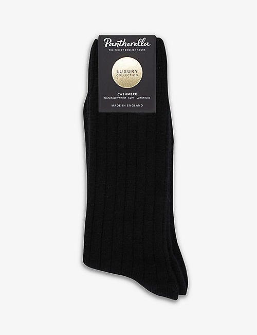 PANTHERELLA: Waddington ribbed cashmere-blend socks