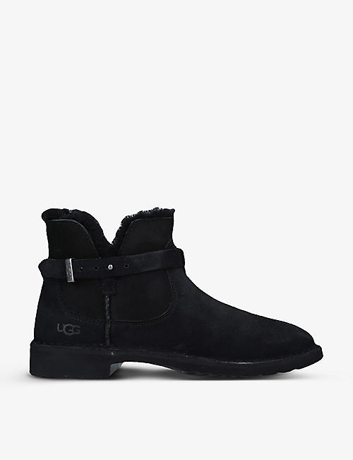 UGG: Elisa suede buckle-detail ankle boots