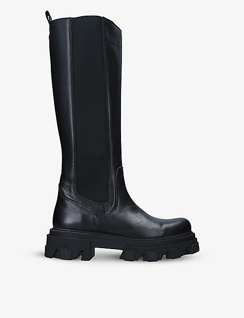 CARVELA: Shy High leather heeled knee-high boots