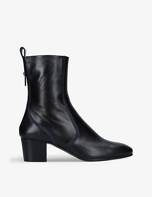 CHLOE: Goldie leather heeled ankle boots