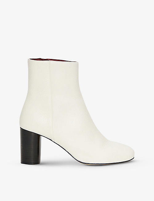 CLAUDIE PIERLOT: Avril heeled leather ankle boots