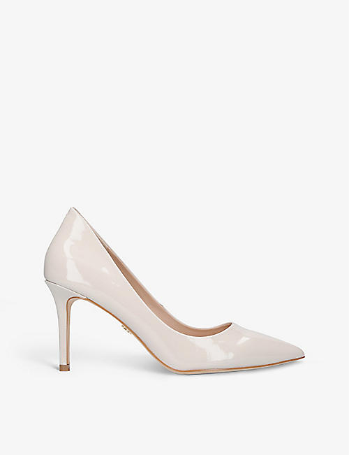 KURT GEIGER LONDON: Brook patent faux-leather courts