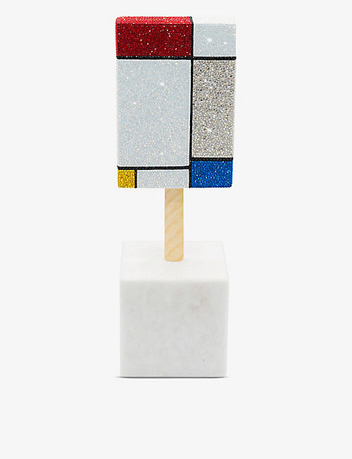 THE DAN LIFE: Hommage A Mondrian resin and crystal sculpture