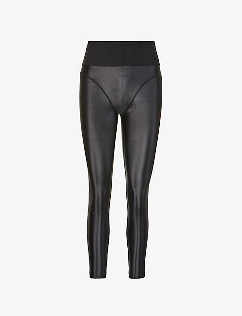 GOOD AMERICAN: Liquid Support high-rise stretch-sateen leggings