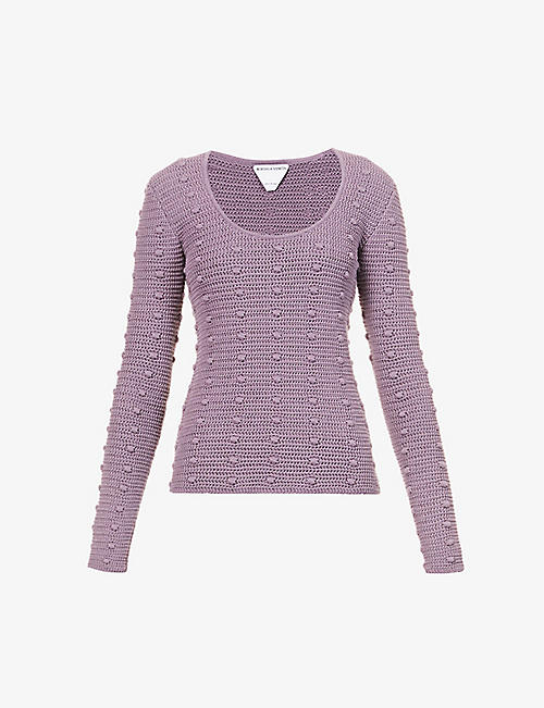 BOTTEGA VENETA: Scoop-neck loose-fit cotton-knit jumper
