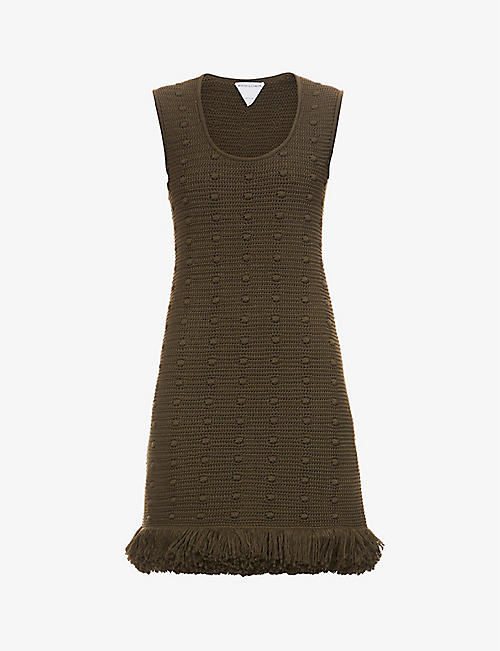 BOTTEGA VENETA: Scoop-neck loose-fit cotton-knit midi dress