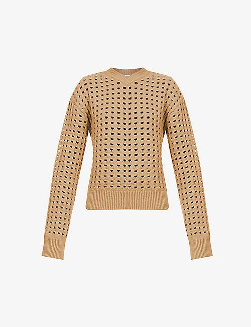 BOTTEGA VENETA: Cut-out wool-blend jumper