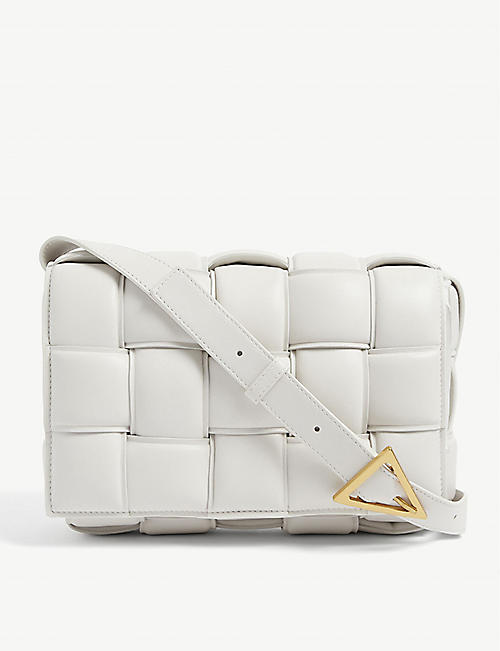 BOTTEGA VENETA: Padded Cassette intrecciato leather cross-body bag