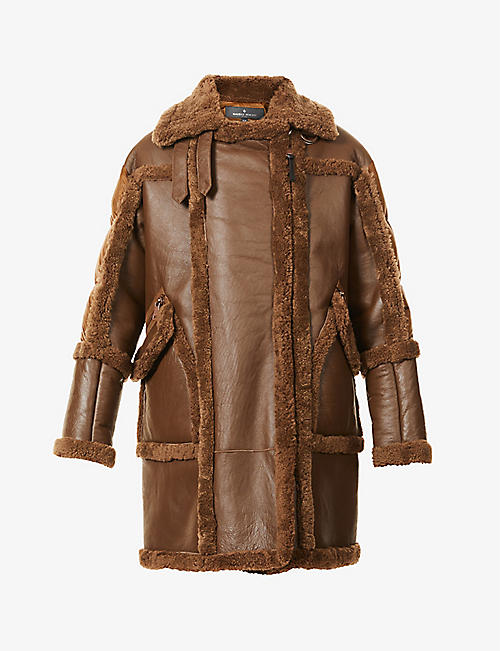 MAURICE BENISTI: Simon padded shearling and shell coat
