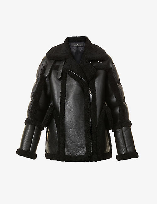 MAURICE BENISTI: Xander padded shearling and shell jacket
