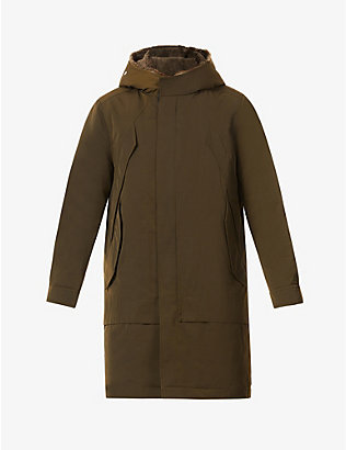 MAURICE BENISTI: Luca drawstring-waist hooded canvas coat