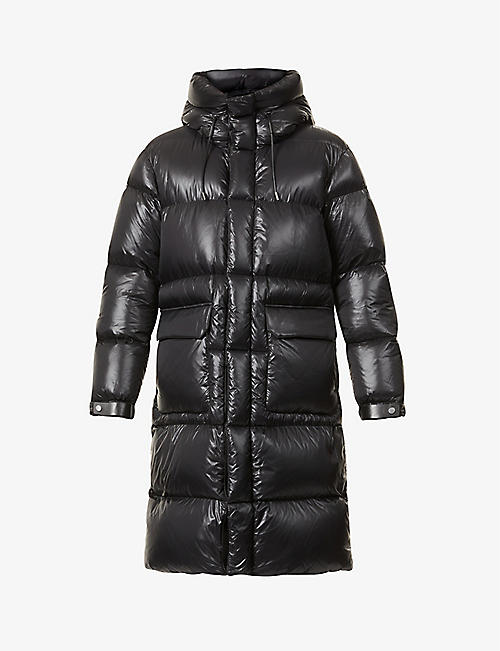 MAURICE BENISTI: Holden hooded high-neck shell-down coat