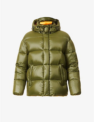 MAURICE BENISTI: Hector padded high-neck shell-down jacket