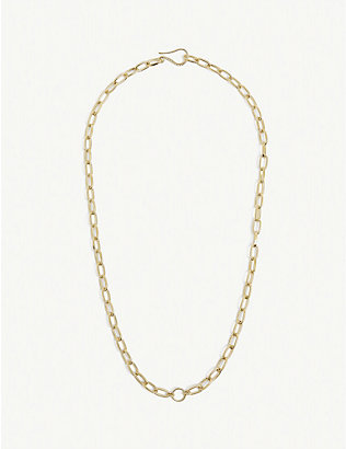 WILHELMINA GARCIA: Gold-plated sterling-silver charm necklace