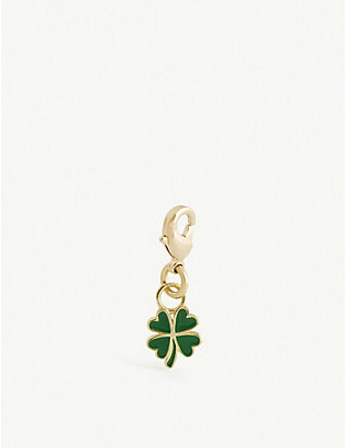 WILHELMINA GARCIA: Four Leaf Clover gold-plated sterling silver charm