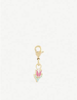 WILHELMINA GARCIA: Tulip gold-plated sterling silver charm