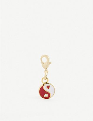 WILHELMINA GARCIA: Yin Loves Yang gold-plated sterling silver charm