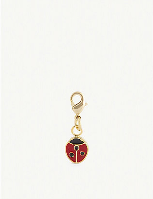 WILHELMINA GARCIA: Ladybird gold-plated sterling silver charm
