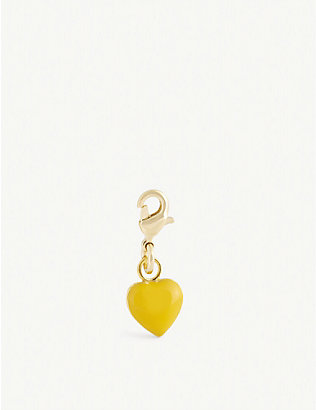 WILHELMINA GARCIA: Heart-shaped gold-plated sterling silver charm