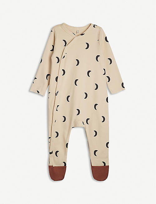 ORGANIC ZOO: Midnight-print organic cotton all-in-one 0-12 months