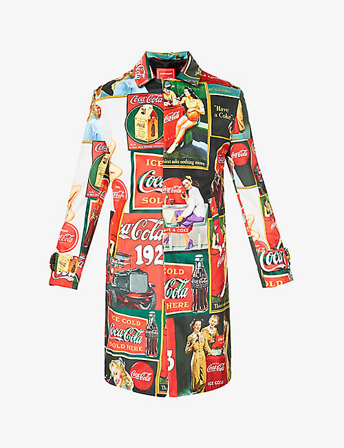CLOTHSURGEON: Upcycled clothsurgeon x Coca-Cola graphic-print velvet coat