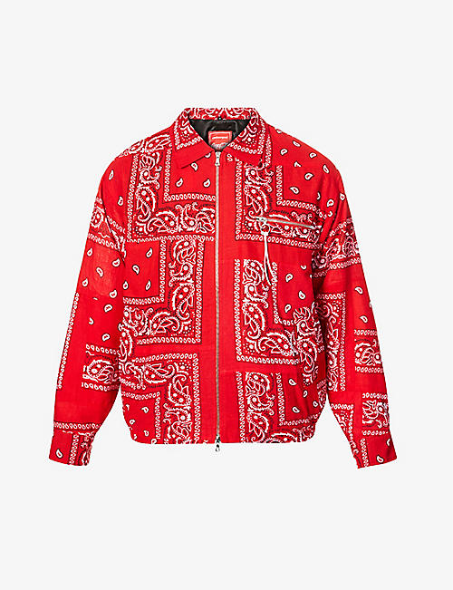 CLOTHSURGEON: clothsurgeon x Coca-Cola paisley print-patchwork cotton jacket