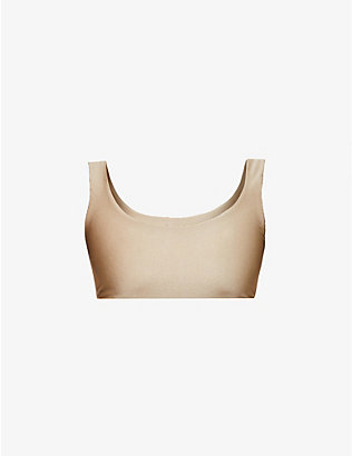 JADE SWIM: Rounded Edges scoop-neck bikini top