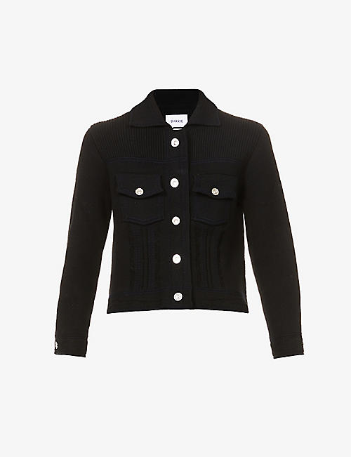 BARRIE: Fitted cashmere and cotton-blend jacket