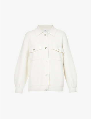BARRIE: Loose cashmere and cotton-blend jacket