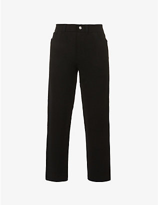 BARRIE: Boyfriend straight-leg mid-rise cashmere and cotton-blend jeans