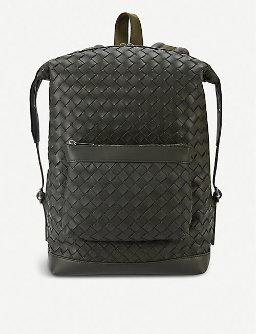 BOTTEGA VENETA: Intrecciato leather backpack