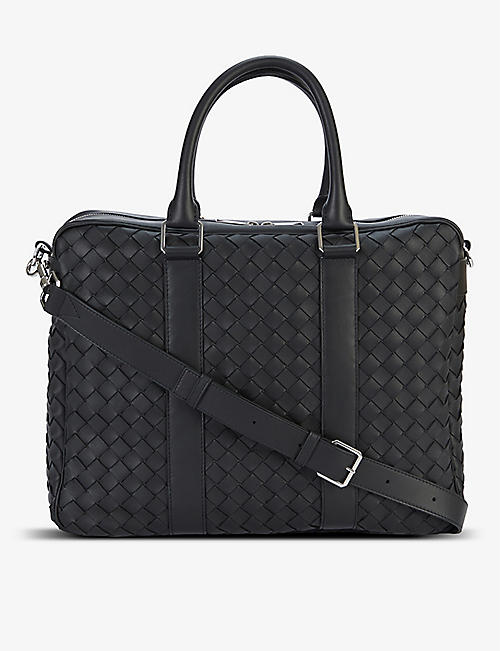BOTTEGA VENETA: Double-faced woven leather briefcase