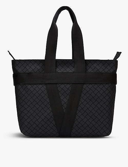 BOTTEGA VENETA: V-motif zipped leather tote bag