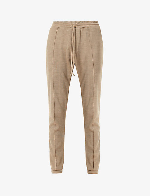 PREVU: Saxen slim-fit jersey jogging bottoms