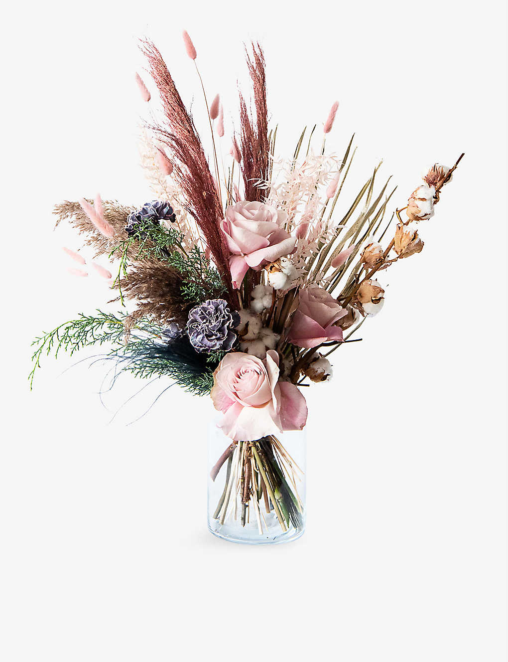 Your London Florist Exclusive Winter Blush Rush Dried And Fresh Flower Bouquet Selfridges Com