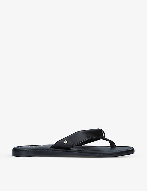 CARVELA COMFORT: Sienna textured leather flip flops