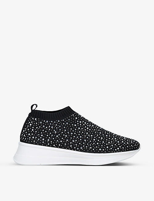 CARVELA COMFORT: Cosmic low-top stretch-knit trainers