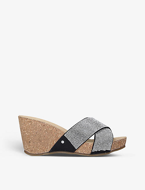 CARVELA COMFORT: Sooty jewel wedge sandals
