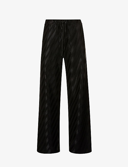 STINE GOYA: Danny relaxed-fit high-rise stretch-woven trousers